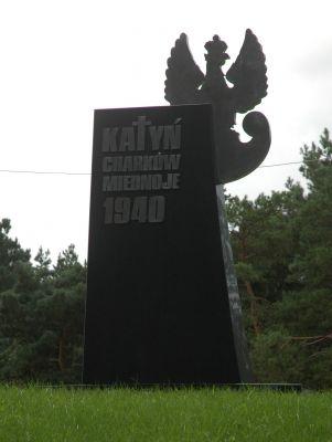 Pomnik Legionowskich ofiar Zbrodni Katynskiej (1) przy kosciele pw Matki Bozej Fatimskiej w Legionowie