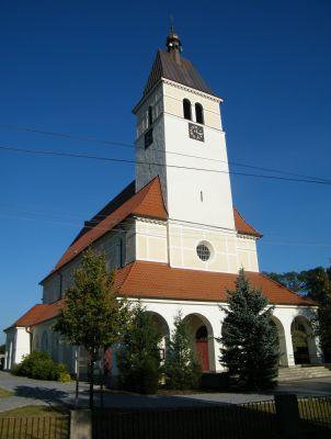 Kościół pw. Najświętszego Serca Pana Jezusa w Zagwiździu (widok od południa)