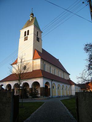 Kościół pw. Najświętszego Serca Pana Jezusa w Zagwiździu (przed remontem elewacji i wieży)