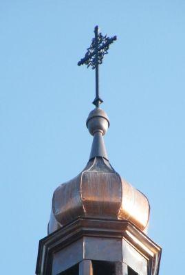 Kościół pw. Najświętszego Serca Pana Jezusa w Zagwiździu (krzyż na wieży)