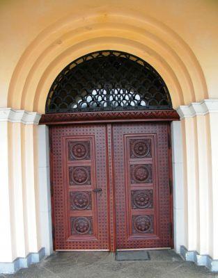 Kościół pw. Najświętszego Serca Pana Jezusa w Zagwiździu (drzwi wejściowe)