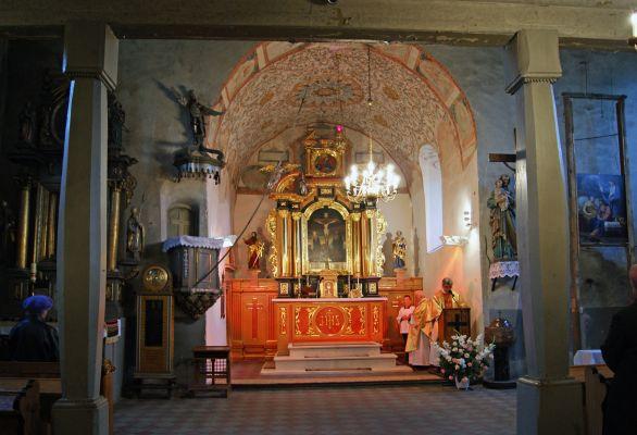 Church of the Exaltation of the Holy Cross (interior), Płaza village, Chrzanów County, Lesser Poland Voivodeship, Poland