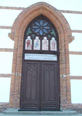 Samogoszcz - kościół parafialny pod wezwaniem św. Jadwigi Śląskiej, portal AL01
