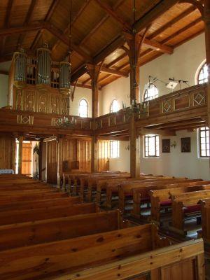 Ostaszewo, kostel, uvnitř