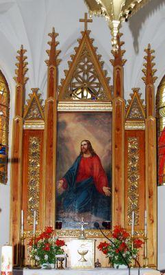 Ostaszewo kosciol oltarz