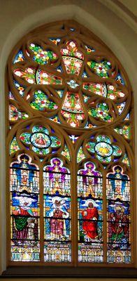 Kościół św. Jana Chrzciciela w Raciborzu - witraż autorstwa Otto Lazara