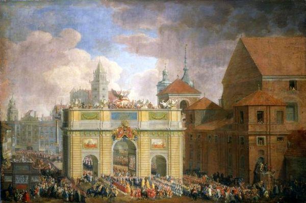 POL JS Mock Wjazd Augusta III do Warszawy