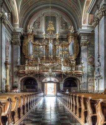 Warszawa, kościół św. Anny, chór HDR