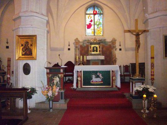 Kościół św. Gertrudy w Darłowie - wnętrze