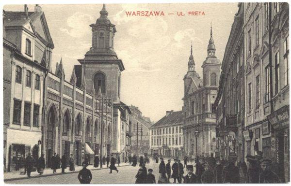 Ulica Freta w Warszawie pocztówka przed 1918