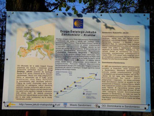 Małopolska Droga św. Jakuba Tablica Informacyjna
