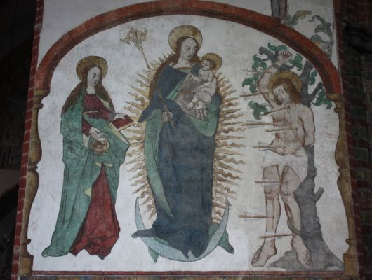 Toruń Kościół Św. Jakuba Malowidła ścienne