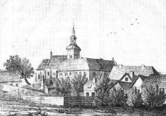 Kościół świętojański. Litografia z Przyjaciela Ludu