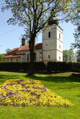 Pawłowice park i kościół
