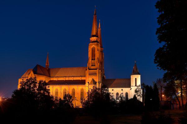 Kościół p.w. św. Joachima w nocy, Sosnowiec