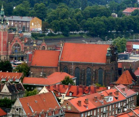 Church of Saint Joseph in Gdańsk, view from belfry of Church of Saint Mary in Gdańsk