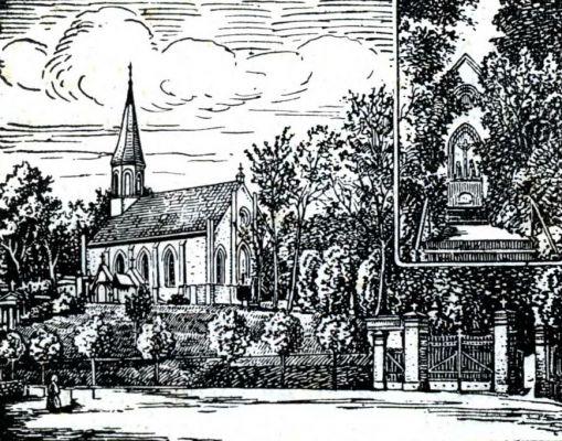 Kościół Świętego Krzyża w Gnieźnie, ilustacja z książki Skoniecznego