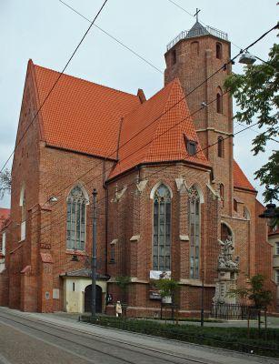 Kościół św. Macieja we Wrocławiu, widok od ulicy Szewskiej