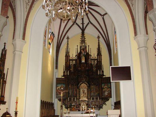 Elbląg, wnętrze kościoła św. Wojciecha