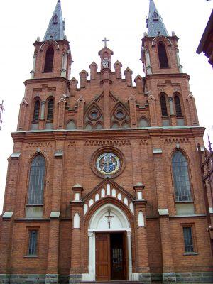 Łosice - zespół kościoła par. pw. św. Zygmunta Króla i Męczennika - kościół MK1