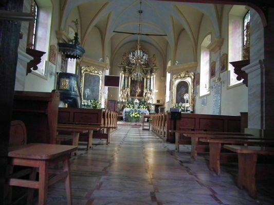 Kraśnik, wnętrze kościoła św. Ducha