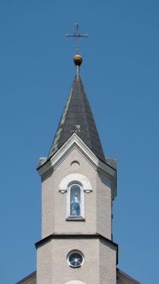 Łukowa - kościół WNMP - wieża - DSC04259 v2