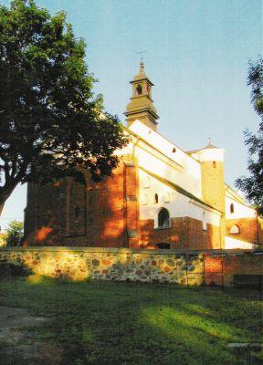 Przasnysz. Kościół farny - miejsce chrztu św. Stanisława Kostki