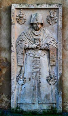 Jerzmanowa --Płaskorzeźby na scianach Kościóła Wszystkich Świętych (zetem.)