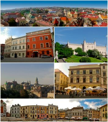 Collage of views of Lublin