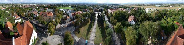 Panorama Lubonia z wiezy kosciola sw Barbary wrzesien 2009