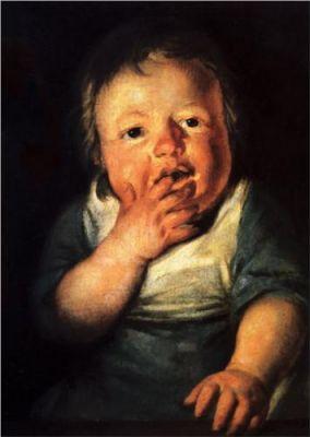 Jordaens Study of a child
