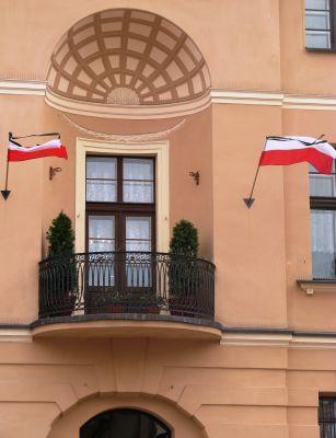 Toruń, Pałac Meissnera (balkon), Rynek Staromiejski 7 (Ola Z.)