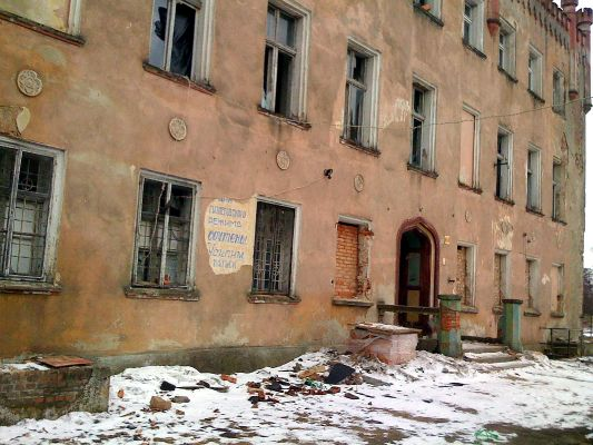 Gorzyn Palace winter 2010 front view