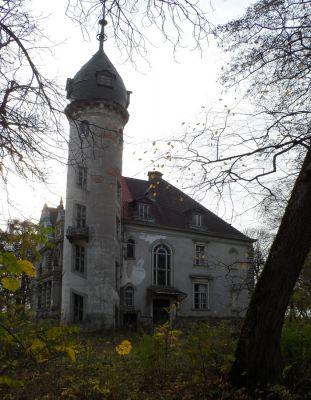 Pałac w Kruszewie widok od strony baszty