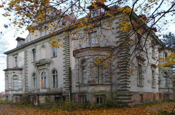 Pałac w Kruszewie widok od strony parku