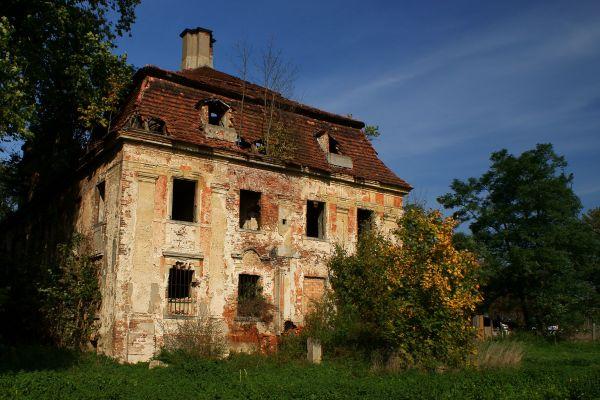 Parchów - Ruina pałacu