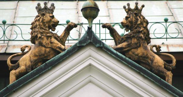 Pałac w Rybnej detal p