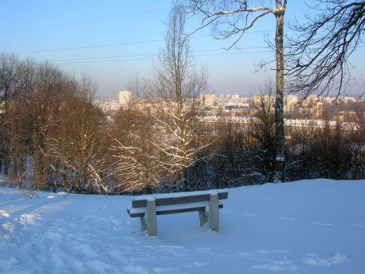 Park na Wzgórzu Wolności widok zima 1