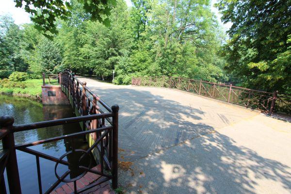Park Zamkowy w Pszczynie - główny mostek