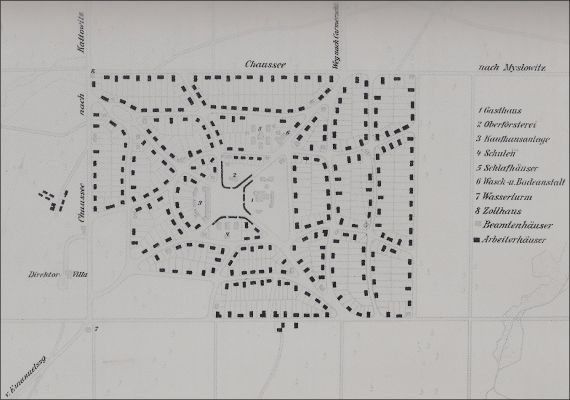 Giszowiec plan sytuacyjny 1910