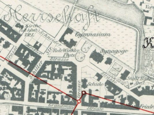 Katowice - map from 1903