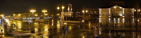 Częstochowa-Plac Władysława Biegańskiego w nocy