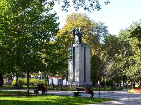 Katowice - Pl.Wolności - Pomnik