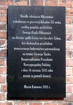 Katowice Nikiszowiec Tablica
