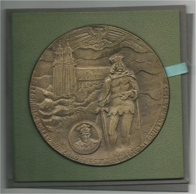Gniezno, Poland, Large Bronze Cast Medal 1985.
