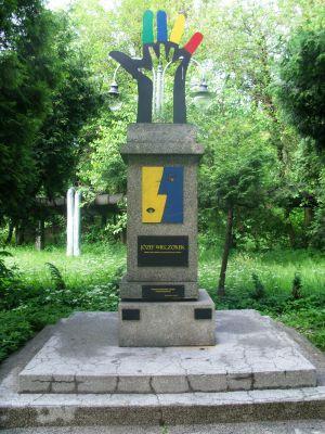 Katowice - Monument of Józef Wieczorek in Nikiszowiec (2)