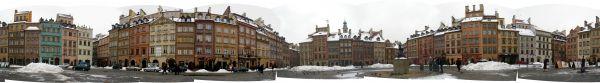 Rynek starego - place du marché vieille ville - 360 degres view