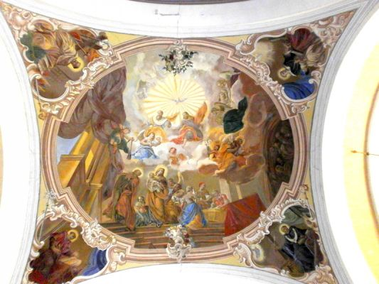 Rokitno, fresk w bazylice mniejszej