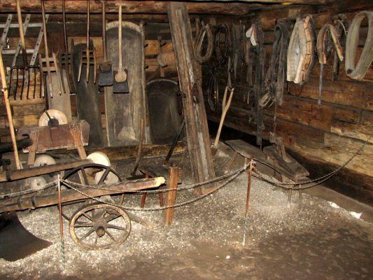 Skansen w Pszczynie - wnętrze jednego z budynków