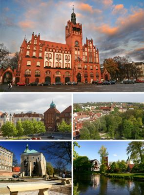 Collage of views of Słupsk